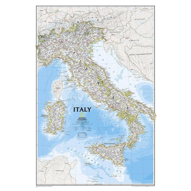 National Geographic Map Italy
