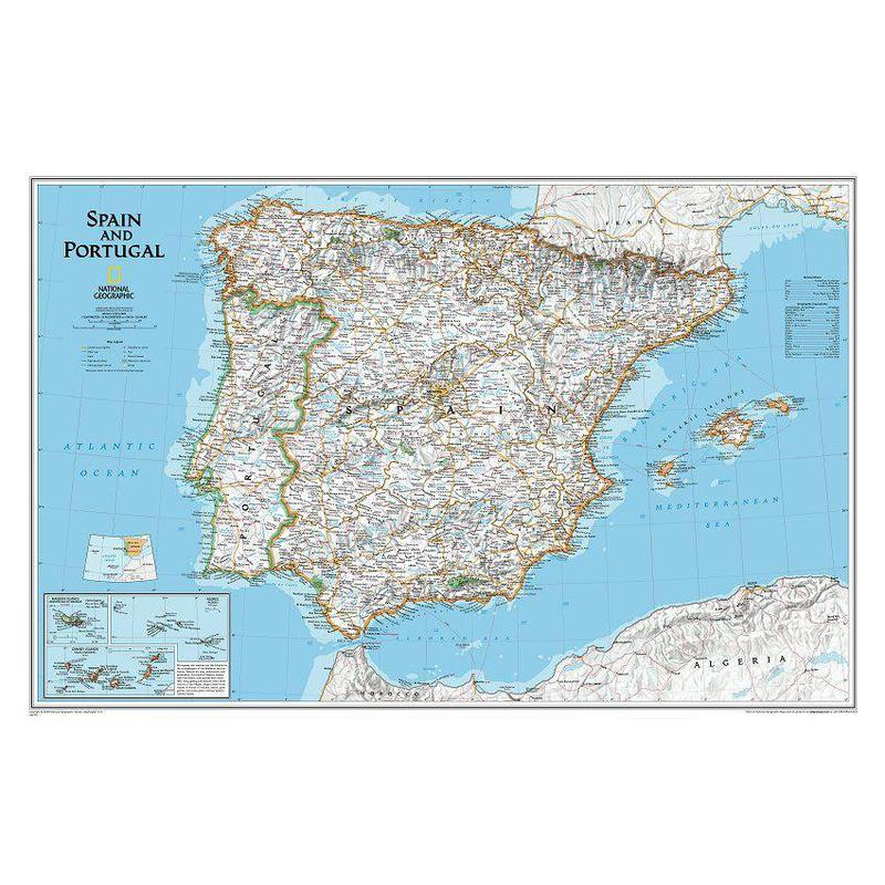 National geographic map spain and portugal gumiabroncs Gallery