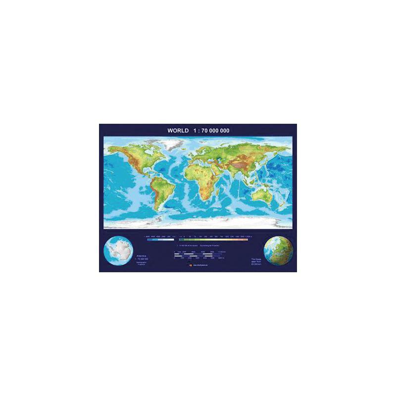 Mbm Systems Weltkarte Echt 3d Karte Welt