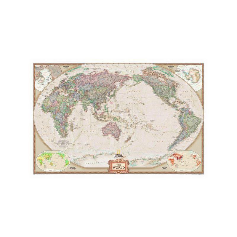 Carte Du Monde National Geographic.Mappemonde National Geographic Antiquite Pazifik Zentrierte