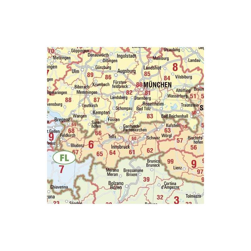 bacher verlag postal code map europe