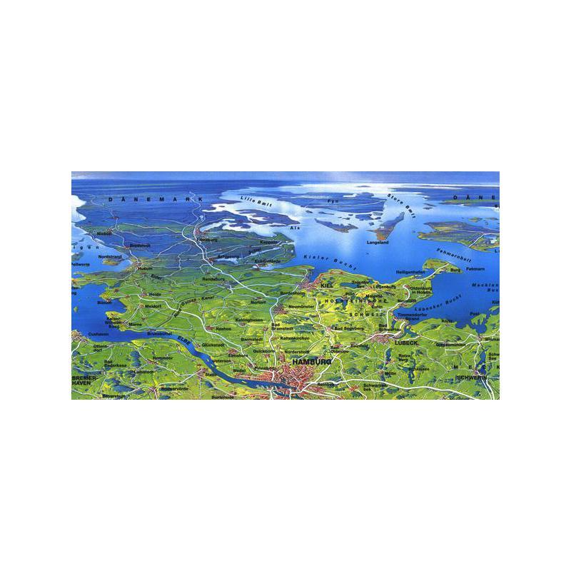 bacher verlag landkarte original mair gro es deutschland panorama. Black Bedroom Furniture Sets. Home Design Ideas