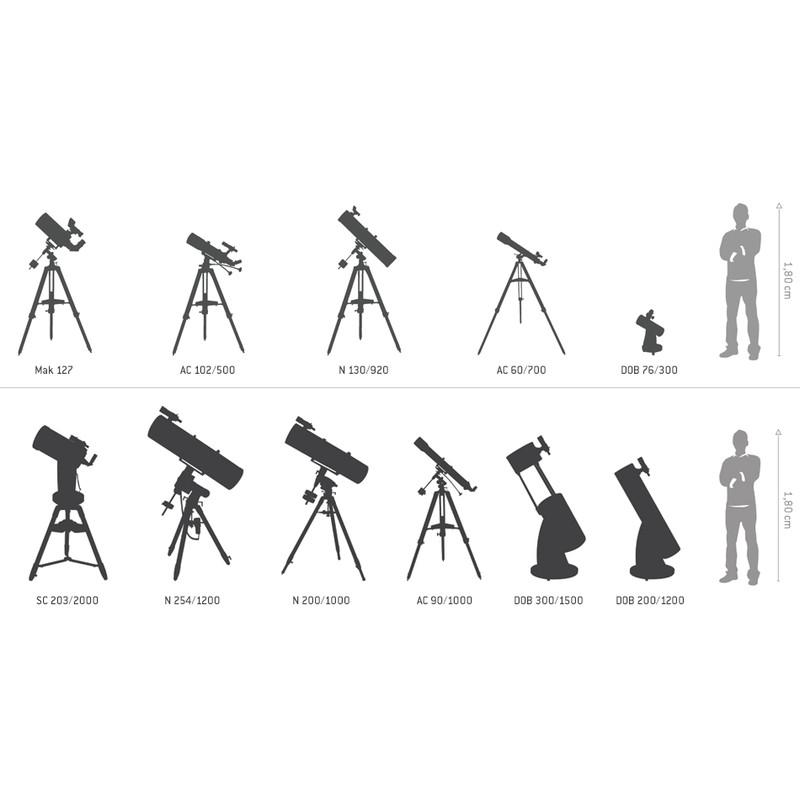 Meade Teleskop LX200 groessenverhaeltnisse