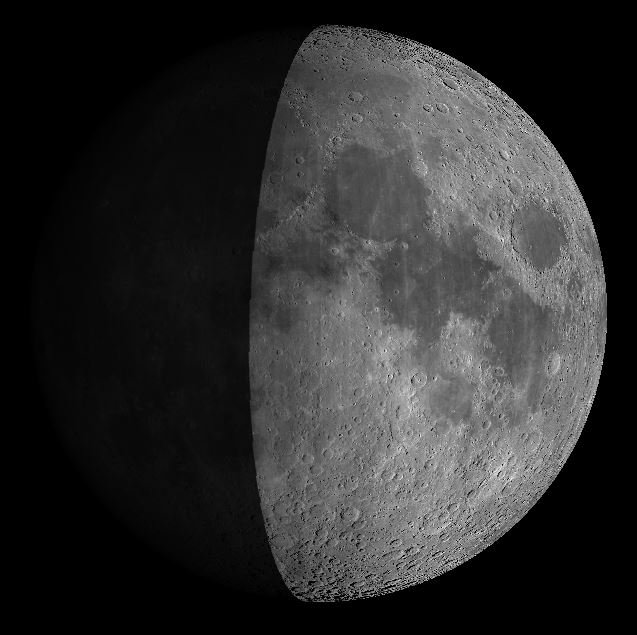 Die Mondphase am Samstag, den 14.05. Quelle: Virtual Moon Atlas